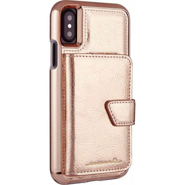 super popular 123bd fd410 Case-Mate Compact Mirror Case for iPhone X/XS, Rose Gold
